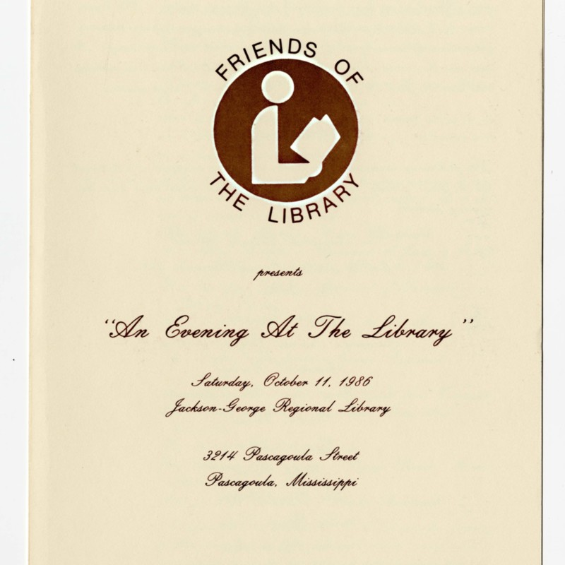 """An Evening at the Library"" pamphlet"