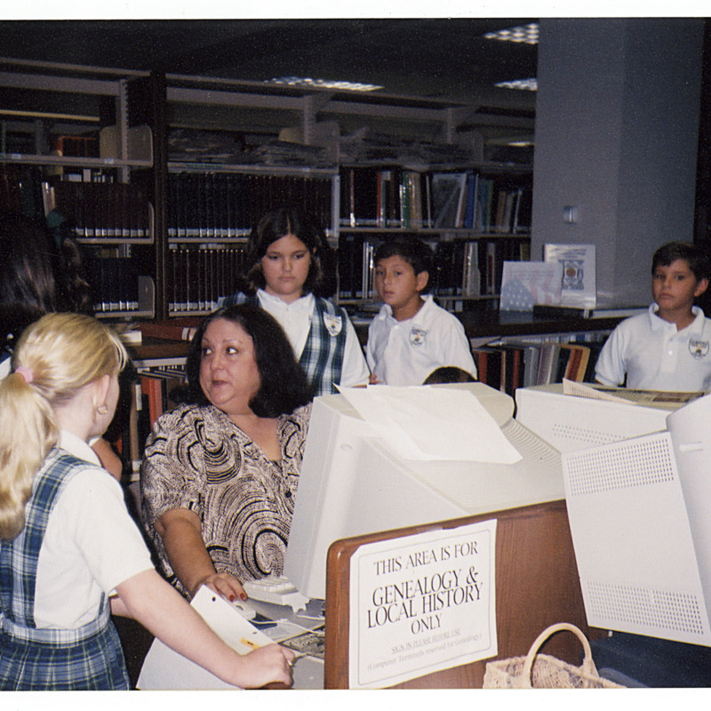 School Children in Genealogy and Local History department